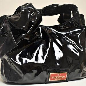 Valentino Garavani Black Tote Handbag w/ Bow